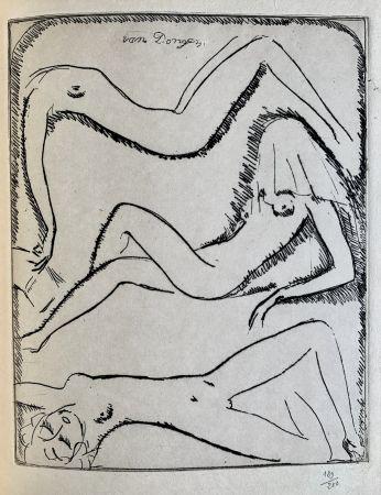 Etching Van Dongen - Reclining Nudes