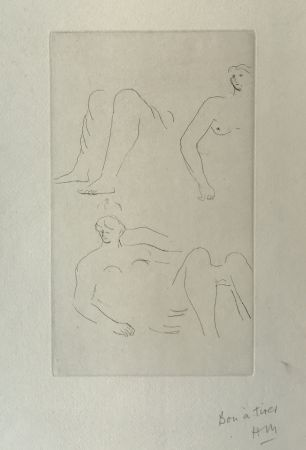 Etching Moore - Reclining Nudes