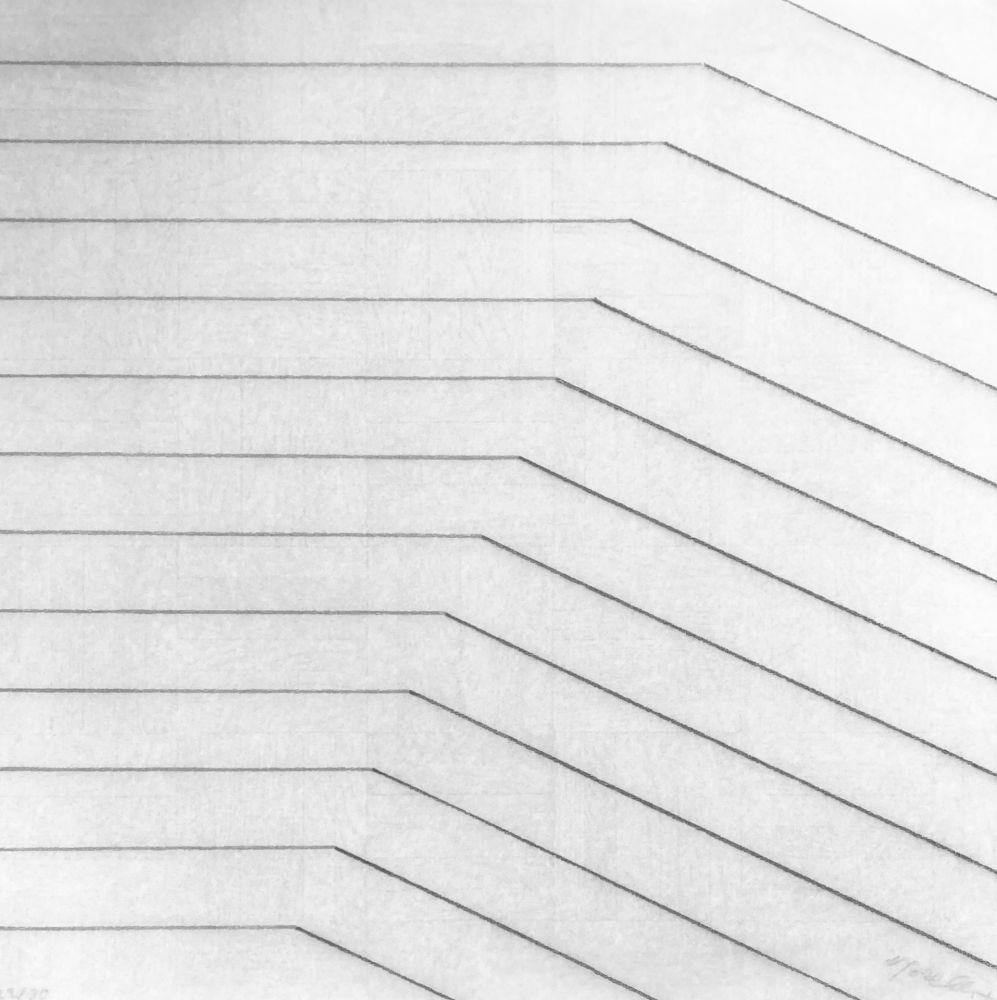 Screenprint Morellet - Recto-verso 25°, 2011