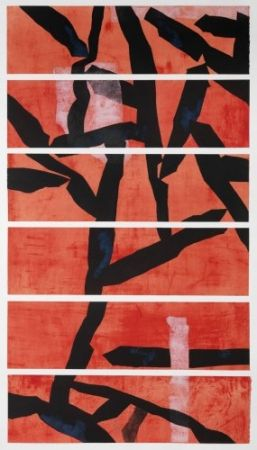 Etching And Aquatint Wang - Red