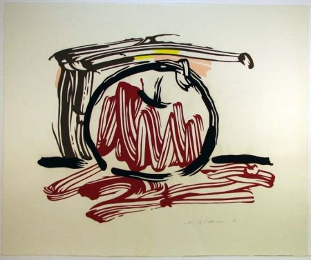 Woodcut Lichtenstein - Red Apple