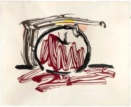 Woodcut Lichtenstein - Red Apple, from Seven Apple Woodcuts Series (C. 196)