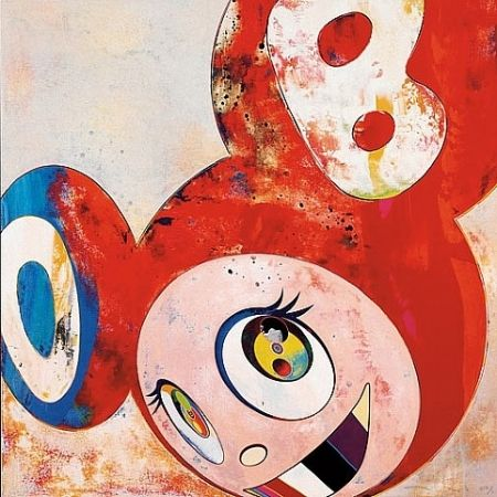 Numeric Print Murakami - Red dob with colored teeth