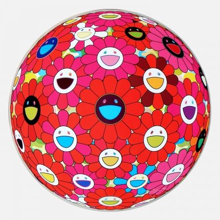 Multiple Murakami - Red Flower Ball (3-D