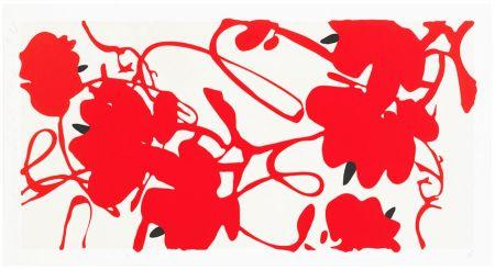 Screenprint Sultan - Red Flowers