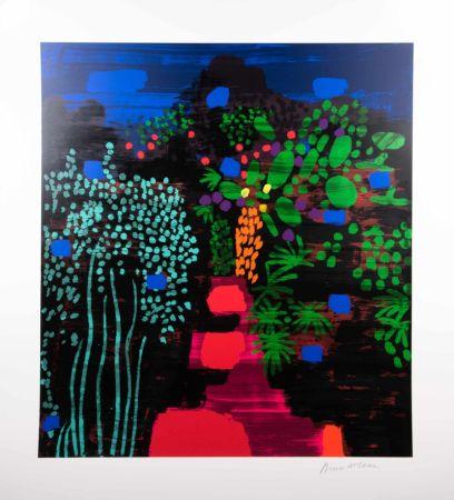 Screenprint Mclean - Red Garden Path