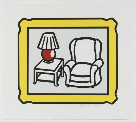 Lithograph Lichtenstein - Red Lamp
