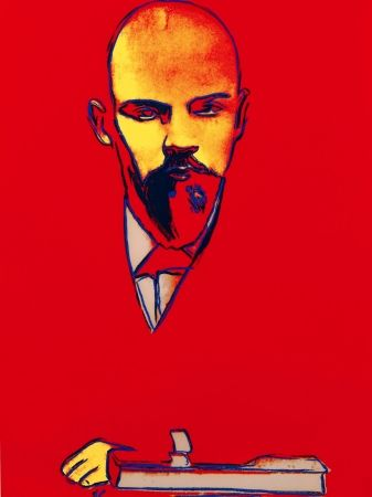 Screenprint Warhol - Red Lenin FS II.403