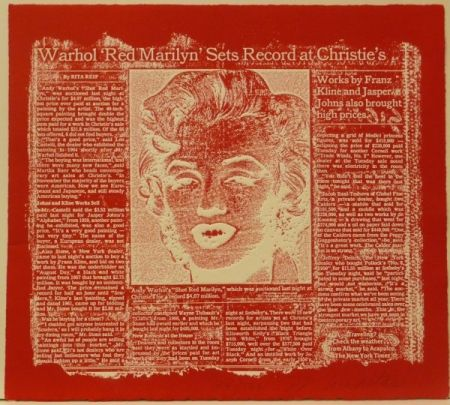 Etching Anastasi - Red Marilyn