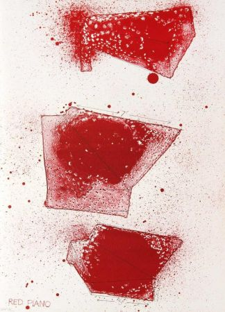 Lithograph Dine - Red Piano