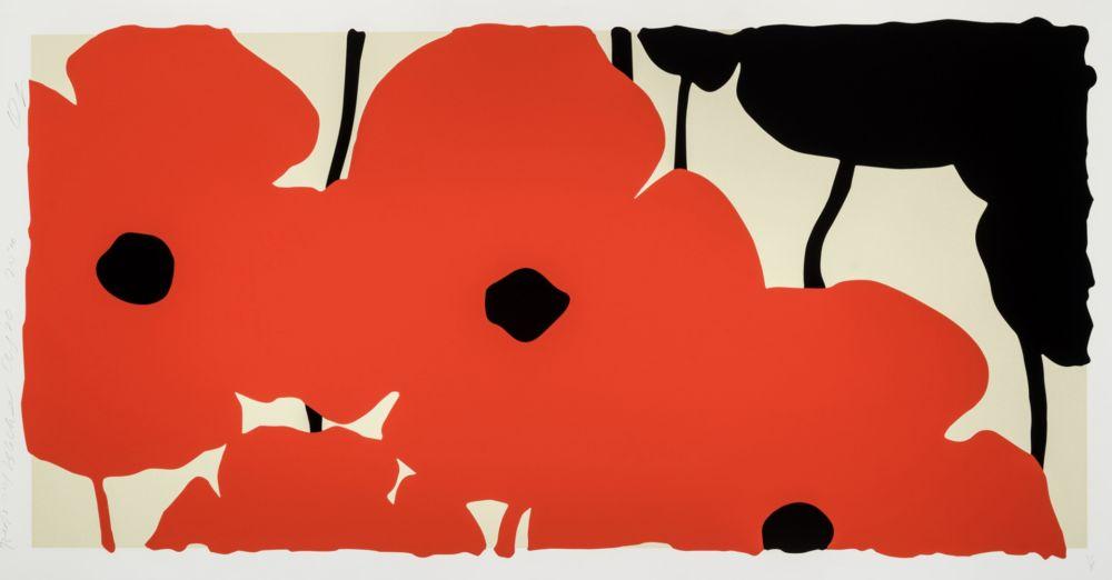 Screenprint Sultan - Red Poppies
