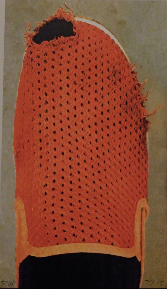 Lithograph Baldessari - Red Slipper