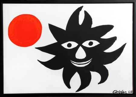 Lithograph Calder - Red Sun