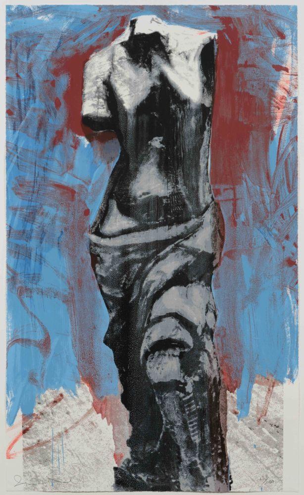 Screenprint Dine - Red, White and Blue Venus