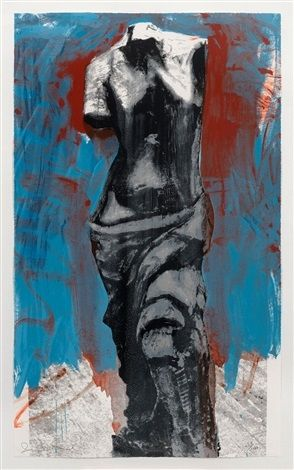 Screenprint Dine - Red, White & Blue Venus for Mondale