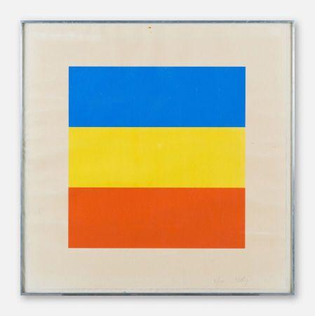 Screenprint Kelly - Red, Yellow, Blue.