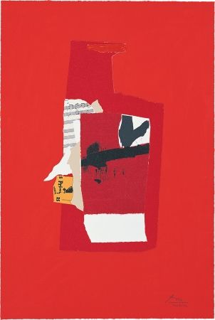 Lithograph Motherwell - Redness of Red