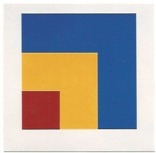 Lithograph Kelly - Red/Yellow/Blue