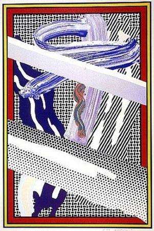 Screenprint Lichtenstein - Reflections on an Expressionist Painting