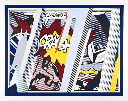 Screenprint Lichtenstein - Reflections on Crash