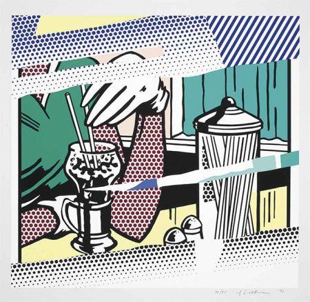 Screenprint Lichtenstein - REFLECTIONS ON SODA FOUNTAIN