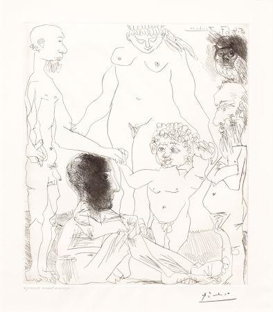 Drypoint Picasso - Reflexion du Peintre sur la Vie