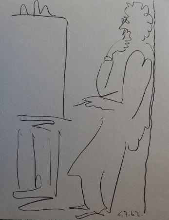Lithograph Picasso - Regards sur Paris - The painter