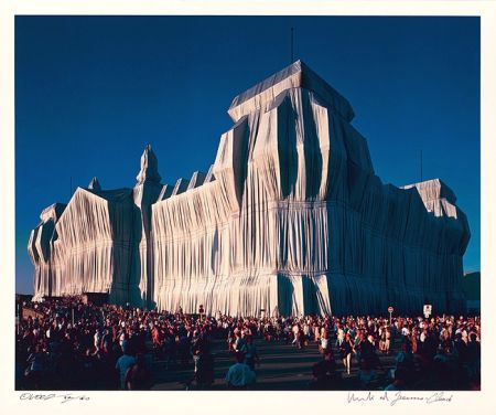 Photography Christo - Reichstag Mappe I, 18 Uhr
