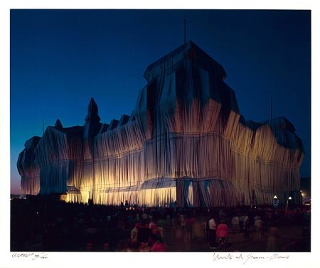 Photography Christo - Reichstag Mappe I, 22 Uhr
