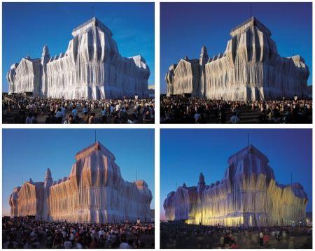 Photography Christo - Reichstag Mappe I, 4 Blatt + 2 Text