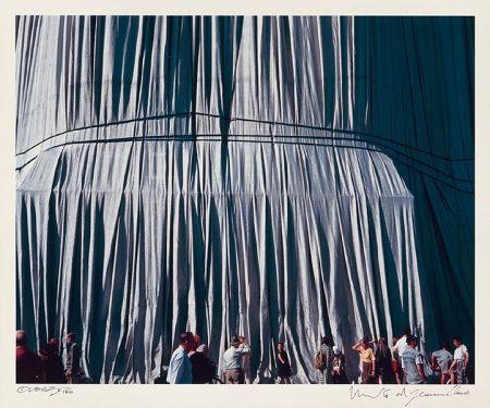 Photography Christo - Reichstag Mappe II, Faltenwurf