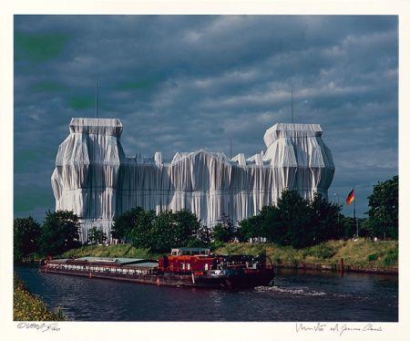 Photography Christo - Reichstag Mappe II, Nordfassade
