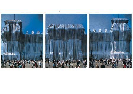 Photography Christo - Reichstag Westfassade Triptychon
