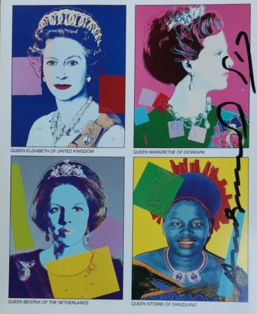 Screenprint Warhol - Reigning Queens (invitation)