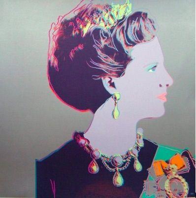 Screenprint Warhol - Reigning Queens, Queen Margrethe II of Denmark