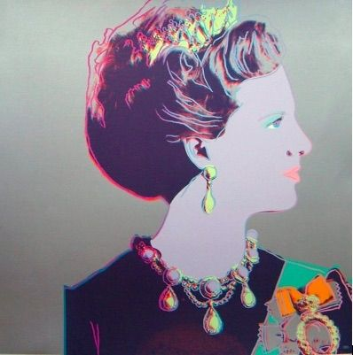 Screenprint Warhol - Reigning Queens, Queen Margrethe II of Denmark