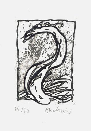 Engraving Alechinsky - '' Rein, comme si de rien ''