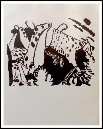 Woodcut Kandinsky - REITERWEG