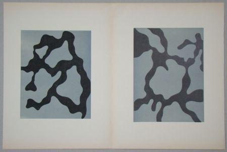 Woodcut Arp - Relief I. + II.