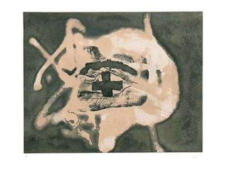 Etching Tàpies - Relief Sable