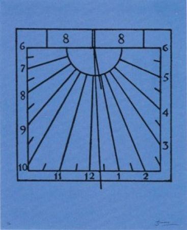 Lithograph Brossa - Rellotge de sol