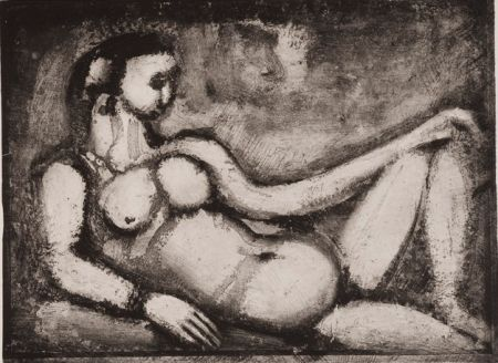 Aquatint Rouault - Remords Posthume