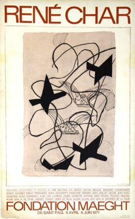 Lithograph Braque - René  Char  Exposition Fondation Maeght