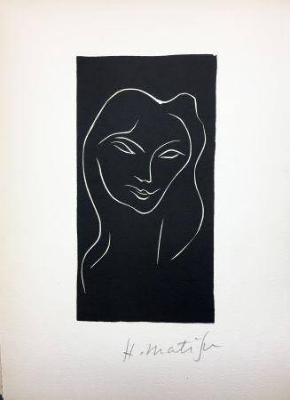 Illustrated Book Matisse - René Char : LE POÈME PULVÉRISÉ. Linogravure originale signée (1947).
