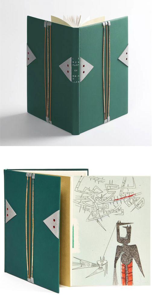 Illustrated Book Lam - René Char. LE REMPART DE BRINDILLES. 1 des 15 aquarellés par Wilfredo Lam (L. Broder 1953).