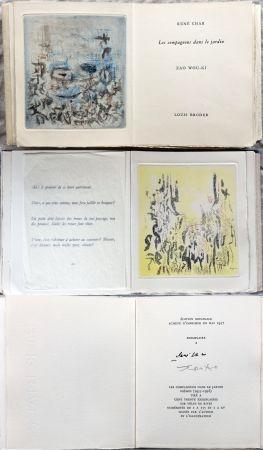 Illustrated Book Zao - René Char : LES COMPAGNONS DANS LE JARDIN. 4 gravures originales en couleurs (1957)