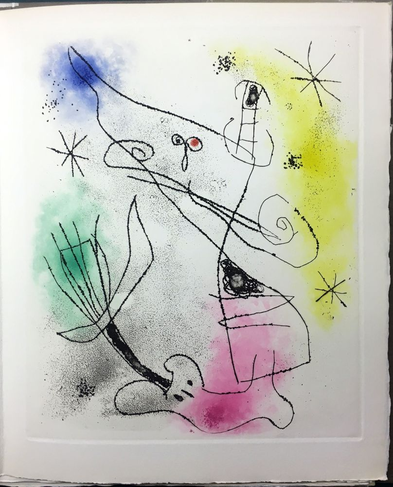 Illustrated Book Miró - René Crevel : FEUILLES ÉPARSES (Avec 14 gravures de Arp, Giacometti, Ernst, Man Ray, Masson, etc.). 1965.