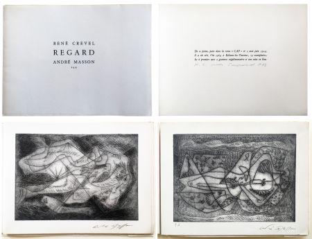 Illustrated Book Masson - René Crevel. REGARD. Gravure d'André Masson (1964)