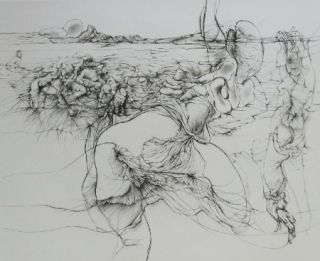 Etching And Aquatint Bellmer - Rencontre à l'Ile de Ré