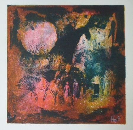 Lithograph Lebadang - Rendez vous sous la lune